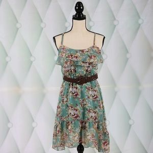 Rue21 Dresses - Sheer Belted Sun Dress by Rue 21 XS
